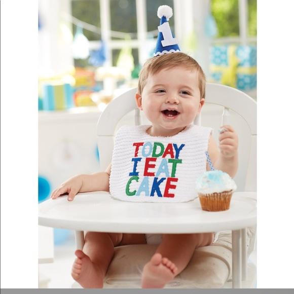 OOS NIB 1st Birthday Cake Smashing Bib And Hat